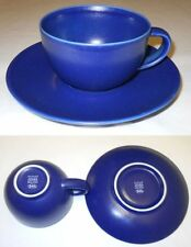 Arabia 24h Blue Tea Cup & Saucer Design Heikki Orvola 1996 Iittala Finland