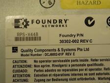 Brocade/Foundry 600W AC Power Supply RPS-X448 for FWSX, FESX