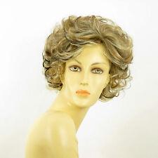 Perruque femme méchée courte blond clair méché cuivré chocolat KIMBERLEY 15613H4