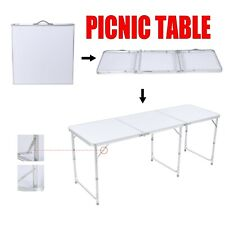 6 FT Folding Picnic Table Portable Outdoor Plastic Camping Dining Party Indoor