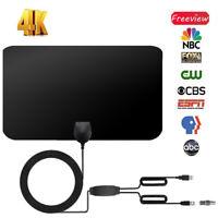 Digital Antena TV HDTV 128.7km Largo Alcance HQ Interior Con Amplificador 12V