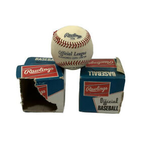 Vintage Official Rawlings Baseballs - Original Box - Set Of 2 - See Descriptions