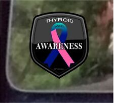 "ProSticker 2517 (One) 4"" Cancer Awareness Series ""Thyroid"" Decal Sticker"