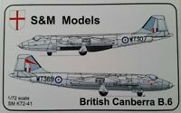 "S & M Models - British Canberra B6 Bomber 1/72 Scale Plastic Model Kit. ..""NEW """