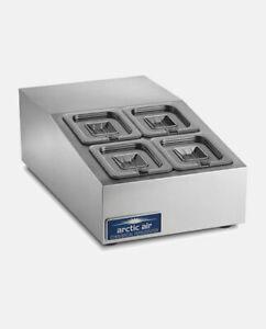 "Arctic Air ACP8SQ 28"" Countertop Refrigerated Prep Rail NSF"