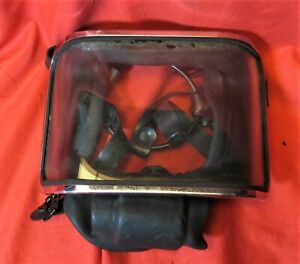 Vintage Scuba Special - Very old, Very odd, FULL FACE MASK for 2 hose regs