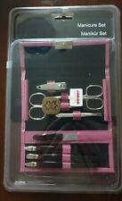De Luxe Solingen Leather Case Manicure Set