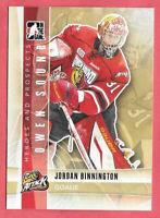 2011-12 Jordan Binnington ITG In The Game Heroes & Prospects Rookie - Blues