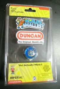 World's Smallest Duncan Yo-Yo And String Blue Item #501 Imperial Actually Works