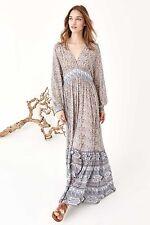 NWT ULLA JOHNSON Long Silk Emmanuelle Maxi Dress Rose Light Blue Floral Print 4
