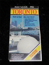 VINTAGE TOURIST MAP & GUIDE TORONTO 1982 Excellent Condition