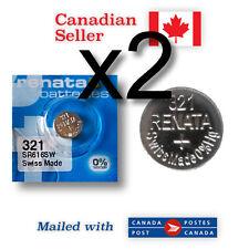 321 x 2 NEW! Renata Silver Oxide Batteries 1.55V - SR616SW, V321, SR65, 611