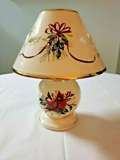 """Lenox Winter Greetings Votive Candle Lamp Cardinal 10"""" New In Box"""