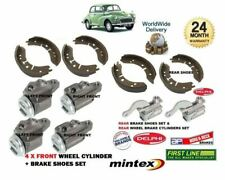 MORRIS MOGGY MINOR 1000 1962-1971 FRONT & REAR BRAKE SHOES + 6x WHEEL CYLINDERS