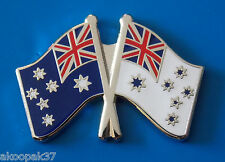 AUSTRALIAN NATIONAL FLAG & ROYAL AUSTRALIAN NAVY ENSIGN LAPEL BADGE 25MM WIDE