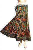 Indian Cotton Women Skirt Maxi Long Wrap Throw Around Rapron New Floral Printed