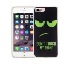 Étui de Portable pour Apple IPHONE 7 Plus Don'T Touch Vert Housse Coque Motif