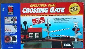 LGB/Life-Like #1964 Operating Dual Crossing Gate w/Sound & Lights *G-Scale*