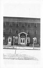 Greenfield Iowa~Greenfield Hotel~Metal Lawn Chairs~Globe Lamp Posts~1960 RPPC