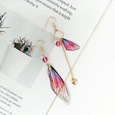 Butterfly Wings Drop Dreamy Gradient Color Asymmetric Long Earring Jewelry