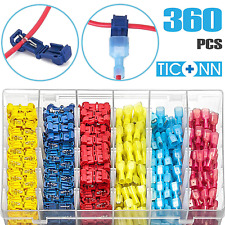 TICONN 360pcs T-Tap Wire Connectors, Self-Stripping Quick Splice Electrical Wire