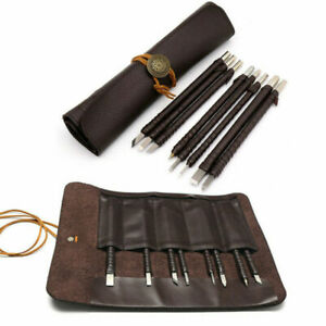 8pcs Tungsten Steel Stone Carving Sculpting Kit Carbide Hand Chisel Tool w/ Bag