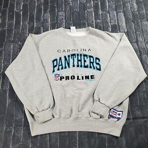Vtg 90s Carolina panthers champion Crewneck Sweatshirt Embroidered Size 2XL XXL