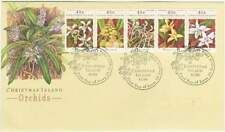 Christmas Island 1994 FDC 397-401 - Orchids