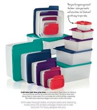 5 pc Tupperware Keep Tabs Storage Containers