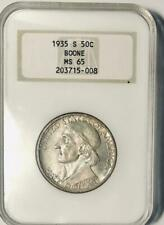 1935-S Boone Commemorative Silver Half Dollar - NGC MS-65 - Mint State 65