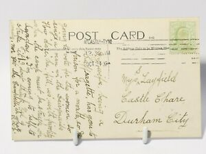 1908 Suffragette Prison Strike related RP Postcard Northumberland War Memorial