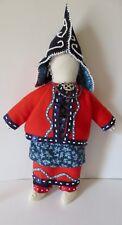 Wabanaki Woman Doll; smaller: Traditional Dress c/1850- 90: Paul St John-Mohawk