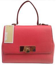 NWT $278 MICHAEL KORS Callie Medium Satchel Watermelon Pebbled Leather Handbag