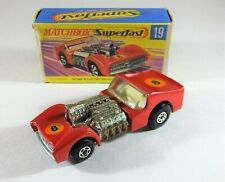 Matchbox Superfast Car No-19 Road Dragster. BOXED Diecast Model Toy Car