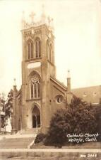 RPPC Catholic Church, Vallejo, California Zan Photo 1945 Vintage Postcard