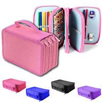 Large 72 Capacity Pen Pencil Cases Stationery Pouch Bag Case School/College/Uni