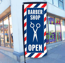 BARBERS SIGN BARBER POLE PAVEMENT SIGN HAIR CUT SIGN SHAVE SIGN HAIR SALON SIGN