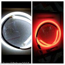 2x 60cm Audi Style Fari LED Tubo Angel Eyes Strip DRL bicolore bianco rosso