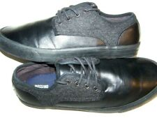 MOSSIMO Mens 9.5D Adam Oxford work Sneakers Solid Black Gum treads skate casual