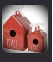 New 2020 Just Released Rae Dunn Peace & Love Birdhouse