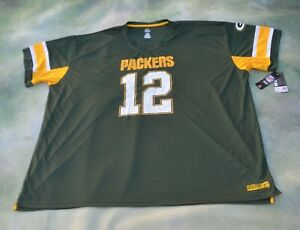 Majestic NFL Green Bay Packers Aaron Rodgers #12 Jersey Size 6XL.