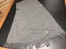 "100% Alpaca Grey Neck Muffler Scarf UNION 76 Logo 12""x60"" Peru"