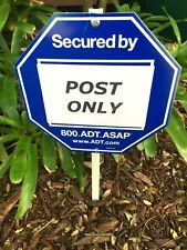 """Yard Sign Post Stake 21"""" METAL For Hanging ADT Brinks Ring Home Security Signs"""