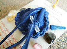 PANIC ATTACK CRYSTAL MEDICINE BAG Pocket Size Deerskin Pouch + Reiki Gemstones