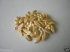 Christian Dior brazaletes broche adornos de hoja 20 G/5,2 x 4,3 cm