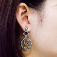 Fashion Drop Earrings for Women 925 Silver Vintage Earrings Jewelry A Pair
