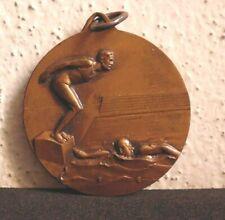 MEDAGLIA SPORTIVA CAMPIONATO NUOTO AERONAUTICA MILITARE CAGLIARI 1961 3,8 CM