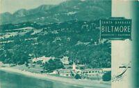 Birdseye 1930s Biltmore Hotels Santa Barbara California Green Tint postcard 9662