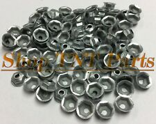 100pc Washer Lock Trim Nuts Thread Cutting #8-32 Zinc Coated Pal Nut GM Chevy