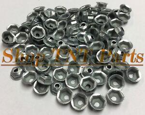 100pc Washer Lock Trim Nuts Thread Cutting #8-32 Zinc Coated Pal Nut GM Chevy